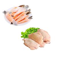 COMBO 67: 1kg Cá basa fillet  + 1kg Cánh gà khúc giữa