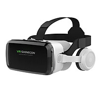 Kính thực tế ảo 3D Vr Shinecon thấu kính Bluelens, tai nghe bluetooth cho android, ios (hàng nhập khẩu)