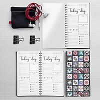 Sổ tay planner lò xo 21x11 - Daily Planner - Sổ vui mỗi ngày
