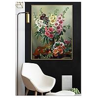 Decal trang trí tường Bình hoa xuân khoe sắc V-148
