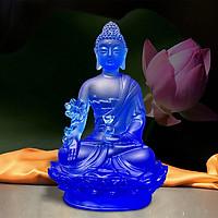 Tượng Phật Dược Sư Bằng Lưu Ly Cổ Pháp – cao 12cm