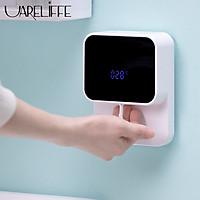 Máy rửa tay tự động Uareliffe Máy rửa tay tạo bọt thông minh cảm ứng với màn hình hiển thị LED. Máy rửa tay treo tường cho nhà bếp và phòng tắm