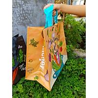 Túi đi chợ size 40x35x20cm, túi sách gia dụng chống thấm sử dụng nhiều lần thân thiện với môi trường