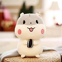 Gấu bông chuột Hamster TNB01 Màu xám - Cao 20cm