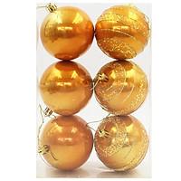 Hộp 6 Trái Châu Trang Trí Noel 4522 - Màu Cam
