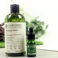 Bộ sản phẩm hỗ trợ điều trị mụn Caryophy (Toner + Serum)