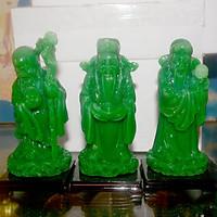 Bộ tượng Tam Đa-Ba ông Phúc Lộc Thọ có đế  cao 14cm-Nhiều Mẫu