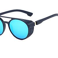 Unisex Steampunk Sunglasses Shades Metal Plastic Frame Glasses Eyewear Black