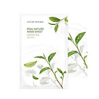 Combo 5 mặt nạ giấy dưỡng da cùng loại Nature Republic Real Nature Mask Sheet 23ml/miếng