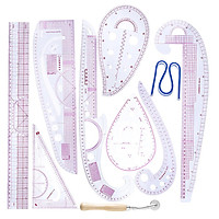 10pcs Tailor Drawing Comma Line Straight French Curve Sewing Ruler DIY Craft