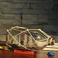 Mô hình thuyền trong chai lưới dây thừng