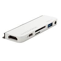 Hub 6 in 1 Hyperdrive USB-C cho iPad Pro 2018/2020 và thiết bị dùng cổng USB-C (HDMI 4K/60Hz) - HD319B - Hàng Chính Hãng