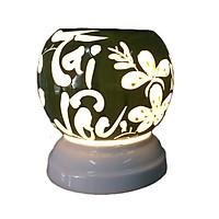 Đèn xông tinh dầu Tài  lộc xanh lá MNB51