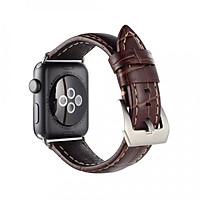 Dây da đeo thay thế cho Apple Watch 42mm/ 44mm Kakapi da bò thật (Vân) - Hàng chính hãng