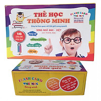 Thẻ học Anh Việt 16 chủ đề cho bé - Tặng kèm bàn chải đánh răng ngộ nghĩnh