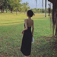 Váy hai dây yếm dài mã 19(kèm ảnh thật,video)