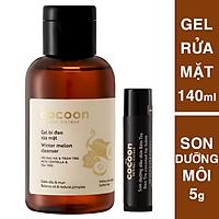 Gel bí đao rửa mặt cocoon 140ml + Son dưỡng môi dầu dừa Bến Tre the cocoon 5g
