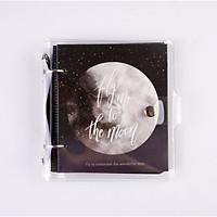 Album ảnh mini bọc bìa trong Fly me to the moon họa tiết mặt trăng 50 ảnh