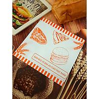 100 túi giấy tam giác 20x 20 gói Hamburger, bánh mì Doner Kebab ( Bánh mì Thổ Nhĩ Kỳ)