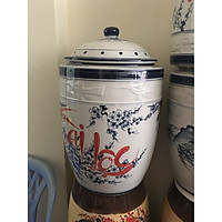 Hũ đựng gạo 15kg gốm Bát Tràng