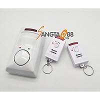 Thiết bị báo động chống trộm hồng ngoại có ĐKTX cao cấp version3 (Tặng đèn 4 led dán tủ, dán tường cao cấp)
