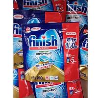 Túi 150 Viên Nước Rửa Chén Bát Finish Diệt Khuẩn 99,99% Nội Địa Nhật Bản (Tặng Khăn Lau)
