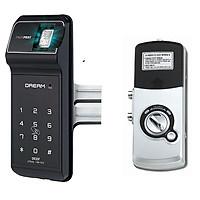 Khóa cửa kính  vân tay và mã số EVERNET LH600FG-N ( Hàng nhập khẩu