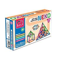 3618L - Bộ xếp hình nam châm thông minh 7 màu Neko (36 thanh, 18 bi) thanh dài