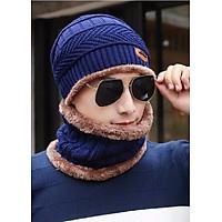 Nón len - Mũ len kèm khăn nam nữ