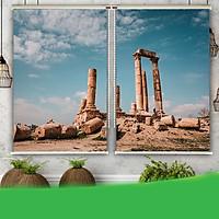 Rèm Tranh 2 Tấm Mẫu Sa Mạc_SND002