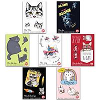 Cats mèo - Combo 7 single sticker hình dán