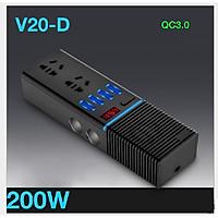 Bộ chuyển nguồn từ 12V sang 220V, 4 cổng USB,2 đầu tẩu