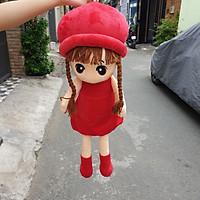 Búp bê đội nón đỏ nhồi bông size 70cm