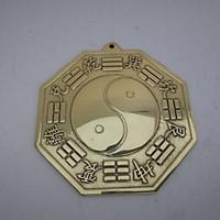Gương Bát Quái Thái Cực bằng đồng 13cm