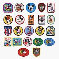 Bộ 5 Miếng Sticker Thêu Vải Hình Chuột Mickey Dùng Trong Trang Trí Quần Áo MS661834