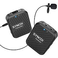 Micro không dây sóng 2.4GHz SYNCO G1(A1) siêu nhỏ gọn cho quay phim cho điện thoại máy ảnh máy quay - Hàng chính hãng