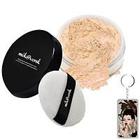 Phấn phủ bột kiềm dầu Mik@vonk Blooming Face Powder Hàn Quốc 30g NB01 # Natural Beige Pearl tặng kèm móc khoá