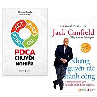 Combo 2 Cuốn Sách Kinh Tế Hấp Dẫn : Những Nguyên Tắc Thành Công - Vươn Tới Đỉnh Cao Từ Xuất Phát Điểm Hiện Tại + PDCA Chuyên Nghiệp (Tặng kèm Bookmark thiết kế AHA)