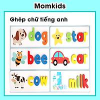 Trò chơi ghép chữ tiếng Anh - Spelling game, đồ chơi gỗ giúp bé phát triển trí tuệ