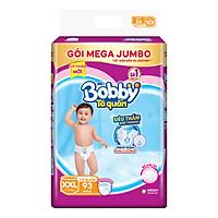Tã Quần Bobby Gói Mega Jumbo XXL93 (93 Miếng)