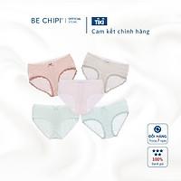 Combo 10 quần lót nữ cotton BECHIPI cạp chun dâu mềm mại, co giãn không hằn da, họa tiết kẻ đáng yêu - QL2217