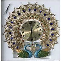 đồng hồ treo tường chim công
