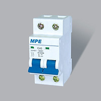 Cầu Dao Tự Động MCB Aptomat 2 Cực MPE – 63A – 4.5kA (MP4-C263)