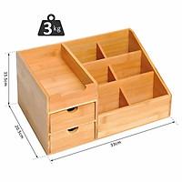 Hộp đựng đồ dùng để bàn FASIFA.WAL / R33 x D20.5 x C15.5cm / Hộp đựng văn phòng phẩm, mỹ phẩm tiện dụng