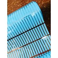 Decal dán kính có sẵn keo sọc xanh dương DK28