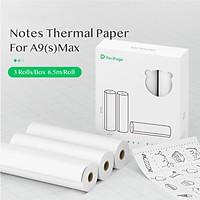 3 Cuộn giấy in nhiệt PeriPage 107 x 30mm không chứa BPA không thấm nước và chống thấm dầu