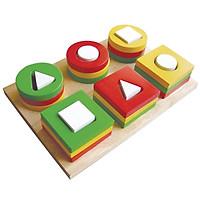 Bộ Xếp 6 Cọc Mk - Đồ chơi gỗ