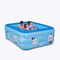 Bể Bơi Trẻ Em, Bể Bơi 3 Tầng Kích Thước 150*110*55 cm Tặng Bơm ( Giao Ngẫu Nhiên)