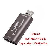 Video  Capture  Card Usb  3.0 4k 60hz Hdmi Streaming Video Recording  Box