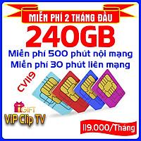 SIM 4G MOBIFONE CV119 (KHÔNG GIỚI HẠN DUNG LƯỢNG, Tốc Độ Luôn Luôn Cao 2Mbs, Tặng tài khoản xem Clip TV)-Giao số ngẫu nhiên
